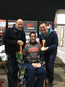 Double Paralympic gold medallist with Neil and Spencer from KUDOS